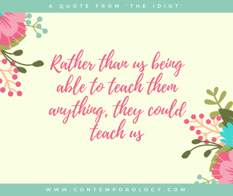 Rather than us being ablate teach them anything, they could teach us